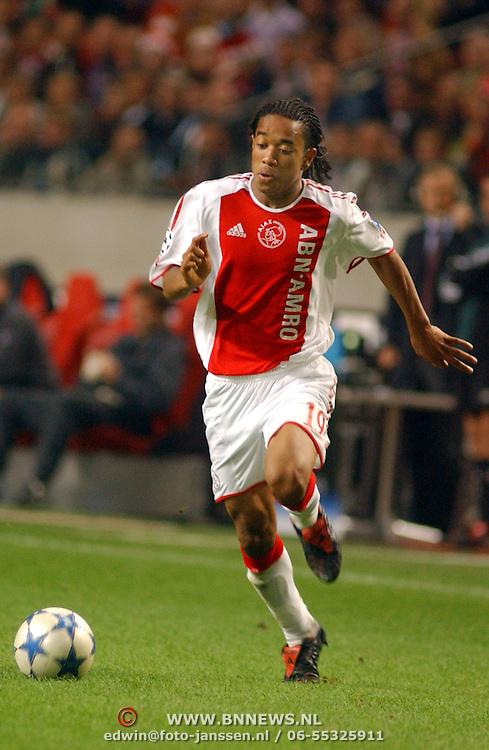 NLD/Amsterdam/20050927 - Champions League 2005, Ajax - Arsenal, Urby Emanuelson