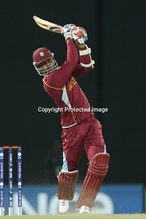 Chris Gayle of The West Indies during the ICC World Twenty20 semi final match between Australia and The West Indies held at the Premadasa Stadium in Colombo, Sri Lanka on the 5th October 2012<br /> <br /> Photo by Ron Gaunt/SPORTZPICS