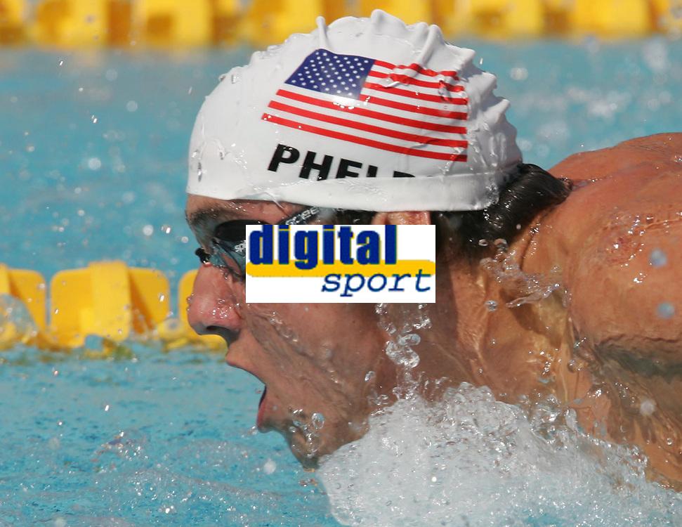 OL 2004 Athen<br /> Sv&oslash;mming<br /> 16.08.2004<br /> Foto: Witters/Digitalsport<br /> NORWAY ONLY<br /> <br /> Michael Phelps  USA<br /> Schwimmen 200m Schmetterling