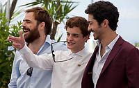 Actors Peter Lanzani, Lorenzo Ferro and Chino Darin at the El Ángel (L'Ange) film photo call at the 71st Cannes Film Festival, Friday 11th May 2018, Cannes, France. Photo credit: Doreen Kennedy