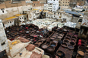 MOROCCO: Fes<br /> The tanneries have changed cery little over the centuries