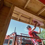 Canada, Edmonton. Sept/04/2013. McKernan Community League building renovation project. Interior structure & Roofing.