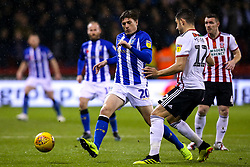 Adam Reach of Sheffield Wednesday challenges John Egan of Sheffield United - Mandatory by-line: Robbie Stephenson/JMP - 09/11/2018 - FOOTBALL - Bramall Lane - Sheffield, England - Sheffield United v Sheffield Wednesday - Sky Bet Championship