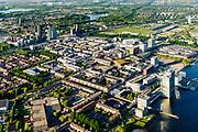 Nederland, Flevoland, Almere, 07-05-2018; Almere Stad met in de voorgrond de Esplanade en het Weerwater, Almere Centrum in het verschiet<br /> City centre Almere.<br /> luchtfoto (toeslag op standard tarieven);<br /> aerial photo (additional fee required);<br /> copyright foto/photo Siebe Swart
