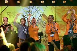 22-02-2014 ALGEMEEN: OLYMPIC GAMES HULDIGING HHH: SOTSJI<br /> In het HHH werden de coaches en de gouden medailles winnaars gehuldigd / (L-R) Coaches Gerard Kemkers, Jeroen Otter, Marianne Timmer, Jan van Veen en Jack de Rijke tijdens de huldiging in het Holland Heineken House ©2014-FotoHoogendoorn.nl