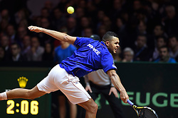 21.11.2014, Stade Pierre Mauroy, Lille, FRA, Davis Cup Finale, Frankreich vs Schweiz, im Bild Jo Wilfried Tsonga (FRA) // during the Davis Cup Final between France and Switzerland at the Stade Pierre Mauroy in Lille, France on 2014/11/21. EXPA Pictures © 2014, PhotoCredit: EXPA/ Freshfocus/ Valeriano Di Domenico<br /> <br /> *****ATTENTION - for AUT, SLO, CRO, SRB, BIH, MAZ only*****
