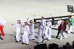 Openingceremony: Team Bahrain<br /> World Equestrian Games Lexington - Kentucky 2010<br /> © Dirk Caremans