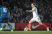 Jade Moore (England) (Notts County) runs with the ball during the Women's International Friendly match between England Ladies and Italy Women at Vale Park, Burslem, England on 7 April 2017. Photo by Mark P Doherty.