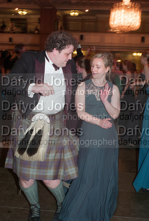 EUAN IVORY; RUTH STANLEY, The Royal Caledonian Ball 2013. The Great Room, Grosvenor House. Park lane. London. 3 May 2013.