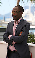 Director Mahamat-saleh Haroun at the Grigris film photocall Cannes Film Festival on Wednesday 22nd May 2013