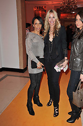 Left to right, DAME KELLY HOLMES and MELISSA ODABASH at the 38th Veuve Clicquot Business Woman Award held at Claridge's, Brook Street, London W1 on 28th March 2011.