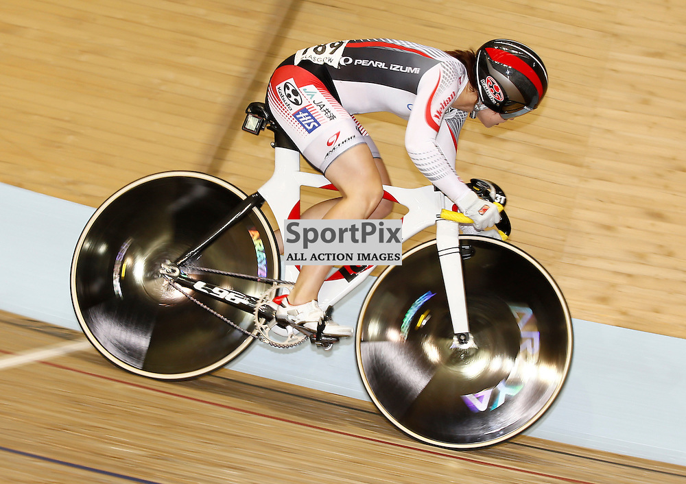 UCI Track Cycling World Cup Glasgow 4th - 6th November 2016. Takako Ishii (JPN) in the qualifying session for Women's sprint qualifying.....(c) STEPHEN LAWSON   SportPix.org.uk