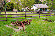 Ranch house at Scorpion Ranch, Santa Cruz Island, Channel Islands National Park, California USA