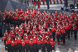 February 25, 2018 - Pyeongchang, KOREA - Athletes from Canada during the closing ceremony for the Pyeongchang 2018 Olympic Winter Games at Pyeongchang Olympic Stadium. (Credit Image: © David McIntyre via ZUMA Wire)