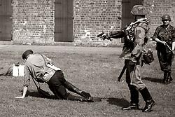 4./ Kompanie 1 Battalion Großdeutschland shoots an  NKVD officer with a pistol Fort Paull Bank holiday Weekend<br /> <br />    07 May 2018 <br />   Copyright Paul David Drabble<br />   www.pauldaviddrabble.co.uk