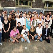 NLD/Amsterdam/20080515 - Nominatielunch John Kraaijkamp Musical Awards 2008, groepsfoto alle genomineerden
