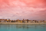 The Arles skyline at sunset;  France