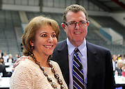 Maria Espinosa of Rodriguez Elementary, pictured with Houston ISD superintendent Terry Grier, is one of the district's Assistant Principals of the Year.
