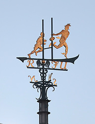 A weathervane on the roof of the stadium during the International Series NFL match at Twickenham, London. PRESS ASSOCIATION Photo. Picture date: Sunday October 29, 2017. See PA story GRIDIRON London. Photo credit should read: Simon Cooper/PA Wire. RESTRICTIONS: News and Editorial use only. Commercial/Non-Editorial use requires prior written permission from the NFL. Digital use subject to reasonable number restriction and no video simulation of game.