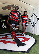 Yannick Nyanga of Toulouse comes out of the players tunnel for the second half. Stade Toulousain v Brive, 24eme Journee, Top 14. Stade Ernest Wallon, Toulouse, France, 21 Avril 2012.