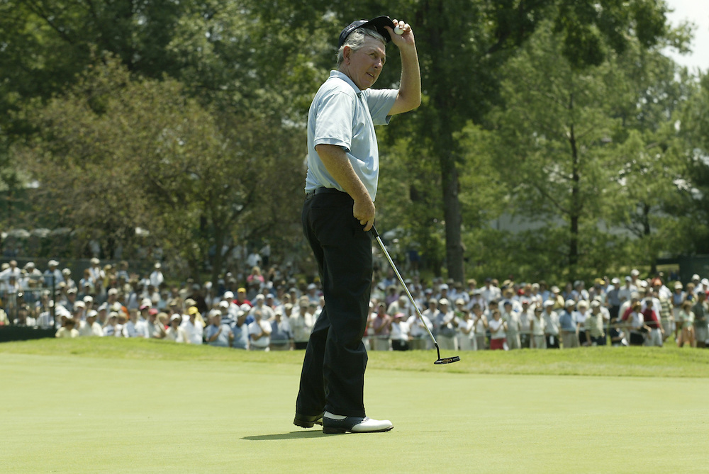 Hale irwin..2004 United States Senior Open.Third Round.Bellerive Country Club.St. Louis MO.Sunday, August 1 2004..photograph by Darren Carroll