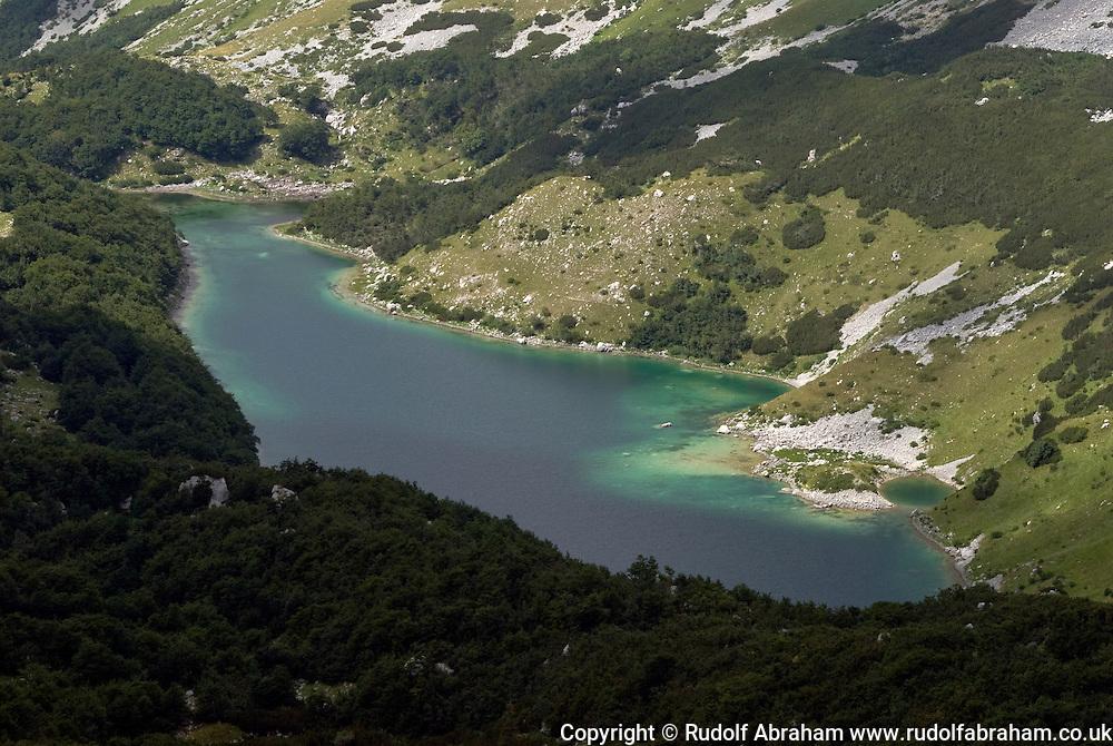 Skrcko jezero viewed from Samar, Durmitor national park, Montenegro