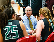 Norman North's Jessika Evans and Kennedy Cummings receiving instructions from Head Coach Rory Hamilton during their game on Saturday, March 02, 2019 at Western Heights