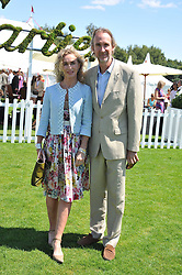 MIKE & ANGIE RUTHERFORD at the 27th annual Cartier International Polo Day featuring the 100th Coronation Cup between England and Brazil held at Guards Polo Club, Windsor Great Park, Berkshire on 24th July 2011.