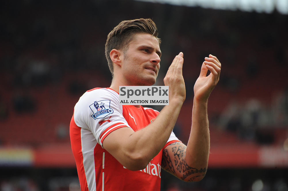 Arsenals Oliver Giroud on the pitch during the lap of honour after Arsenal v West Brom match on Sunday 24th May 2015