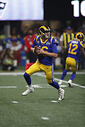 Los Angeles Rams quarterback Jared Goff (16) in action during the NFL Super Bowl 53 football game against the New England Patriots on Sunday, Feb. 3, 2019, in Atlanta. The Patriots defeated the Rams 13-3. (©Paul Anthony Spinelli)