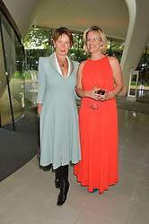 Left to right, CELIA IMRIE and BEC ASTLEY CLARKE at a summer drinks party hosted by Bec Astley Clarke at the Serpentine Sackler Gallery, Hyde Park, London on 17th June 2014.