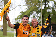 Hull City fans during the Sky Bet Championship play-off 2nd leg match between Hull City and Derby County at the KC Stadium, Kingston upon Hull, England on 17 May 2016. Photo by Simon Davies.