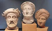 Greek funerary sculpted heads, Ancient Greek circa 300-100 BC