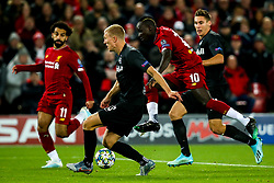 Sadio Mane of Liverpool shoots at goal - Mandatory by-line: Robbie Stephenson/JMP - 02/10/2019 - FOOTBALL - Anfield - Liverpool, England - Liverpool v Red Bull Salzburg - UEFA Champions League Group Stage