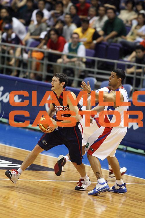 DESCRIZIONE : Sapporo Giappone Japan Men World Championship 2006 Campionati Puerto Rico-Usa <br /> GIOCATORE : Hinrich James <br /> SQUADRA : Usa Stai Uniti America <br /> EVENTO : Sapporo Giappone Japan Men World Championship 2006 Campionato Mondiale Puerto Rico-Usa <br /> GARA : Puerto Rico Usa Porto Rico Stati Uniti America <br /> DATA : 19/08/2006 <br /> CATEGORIA : Passaggio <br /> SPORT : Pallacanestro <br /> AUTORE : Agenzia Ciamillo-Castoria/G.Ciamillo