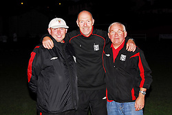 Westport Utd's Kenny Gannon, Jim Rocliffe and Walter Pickard after the U16's league win...Pic Conor McKeown