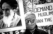 Anti- Salman Rushdie demonstration by Muslims, London, 1990's