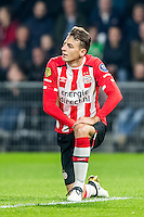EINDHOVEN - PSV - Sparta Rotterdam , Voetbal , Eredivisie , Seizoen 2016/2017 , Philips Stadion , 22-10-2016 , PSV speler Santiago Arias baalt van corner