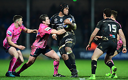 Yacouba Camara of Montpellier in action - Mandatory by-line: Alex Davidson/JMP - 13/01/2018 - RUGBY - Sandy Park Stadium - Exeter, England - Exeter Chiefs v Montpellier - European Rugby Champions Cup
