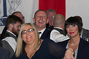 Rab' Douglas laughs during Alan Rough's spot at Dundee FC hall of fame dinner at Invercarse Hotel, Dundee, Photo: David Young<br /> <br />  - &copy; David Young - www.davidyoungphoto.co.uk - email: davidyoungphoto@gmail.com