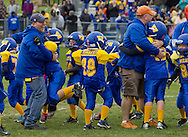 Salisbury Mills, New York  - Washingtonville Gold players and coaches celebrate a last-second victory over Middletown in an Orange County Youth Football League Division I playoff game at Lasser Field on Sunday, Nov. 3, 2013.