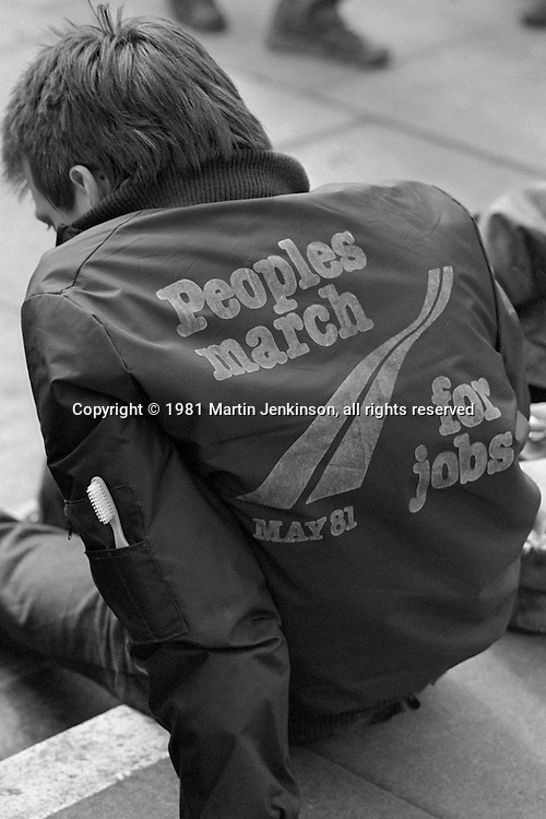 1981 People's  March for Jobs. Hemel Hempstead 27/05/1981.
