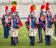 Members of the Kashmere Marching Band perform during the Houston ISD Marching Band Festival at Delmar Stadium, October 11, 2016.
