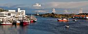 Fishingboats at wharf in Skudeneshavn, Karmöy, western Norway.