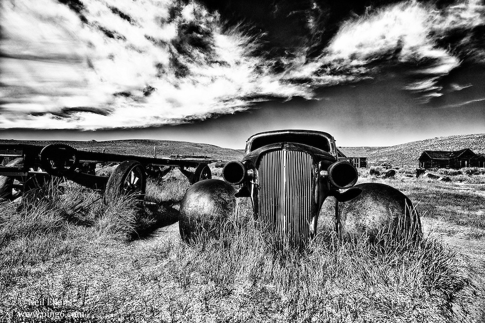 Old Rusty Car Bodie Ghost Town.