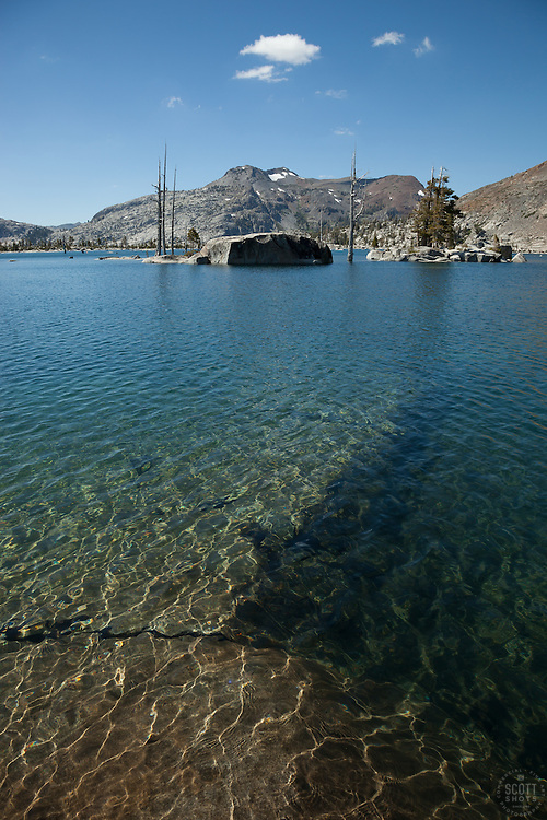 """Lake Aloha 8"" - Photograph of the clear waters of Lake Aloha in the Tahoe Desolation Wilderness."