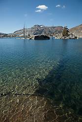 """""""Lake Aloha 8"""" - Photograph of the clear waters of Lake Aloha in the Tahoe Desolation Wilderness."""