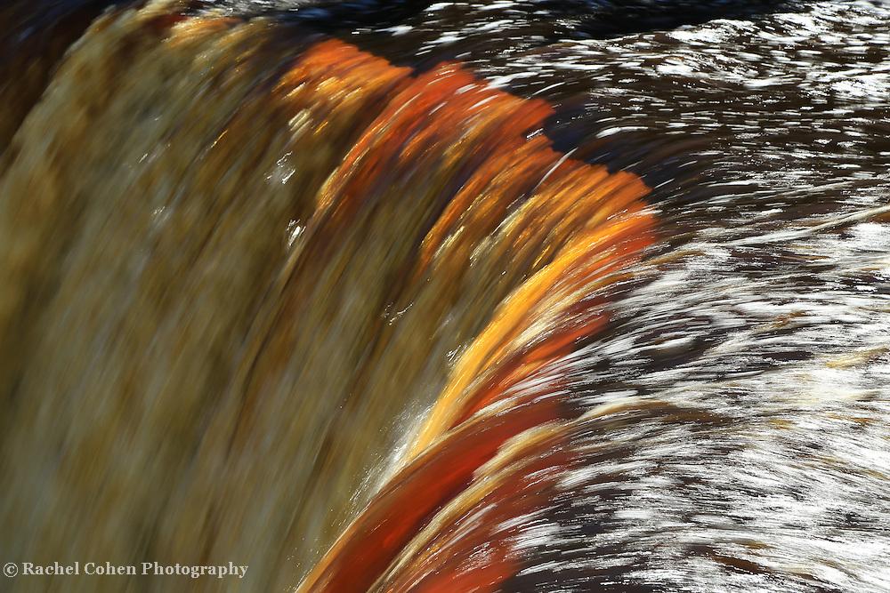 &quot;Liquid Light&quot;<br /> <br /> Tahquamenon Falls in golden amber hues.<br /> <br /> Waterfalls by Rachel Cohen