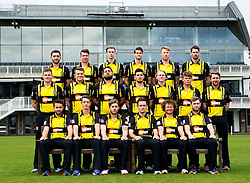 Gloucestershire CCC pose for a team picture in their Royal London One Day kit - Mandatory by-line: Robbie Stephenson/JMP - 04/04/2016 - CRICKET - Bristol County Ground - Bristol, United Kingdom - Gloucestershire  - Gloucestershire Media Day