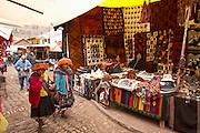 Vendors at Pisac market  Pisac, Peru